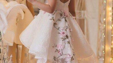 مدل لباس پفی جذاب مجلسی دخترانه بچگانه | لباس مجلسی بچگانه